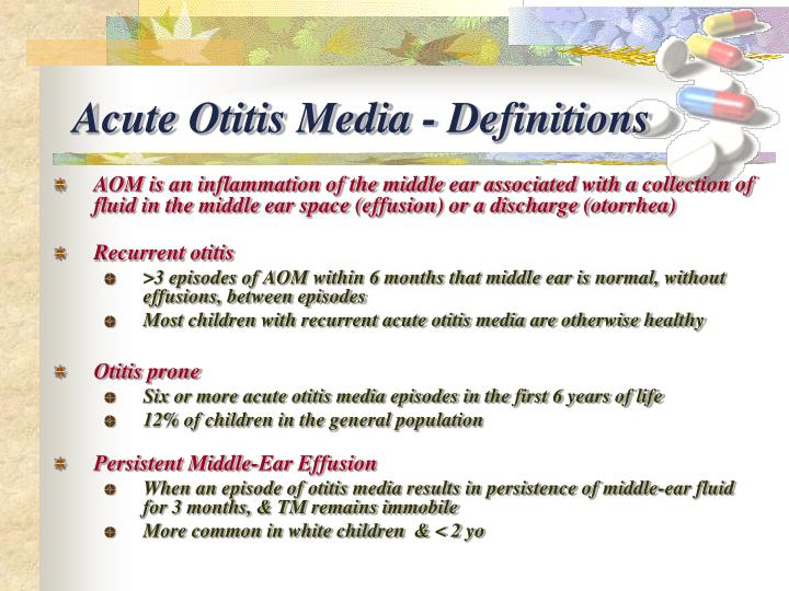 Acute Otitis Media - Definitions