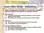 acute otitis media definitions