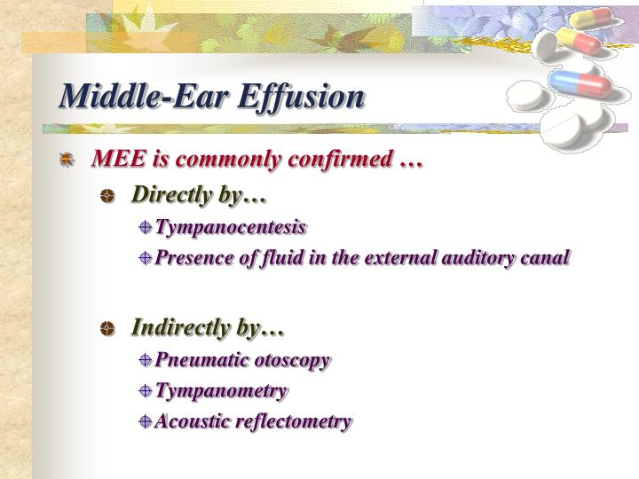 Middle-Ear Effusion