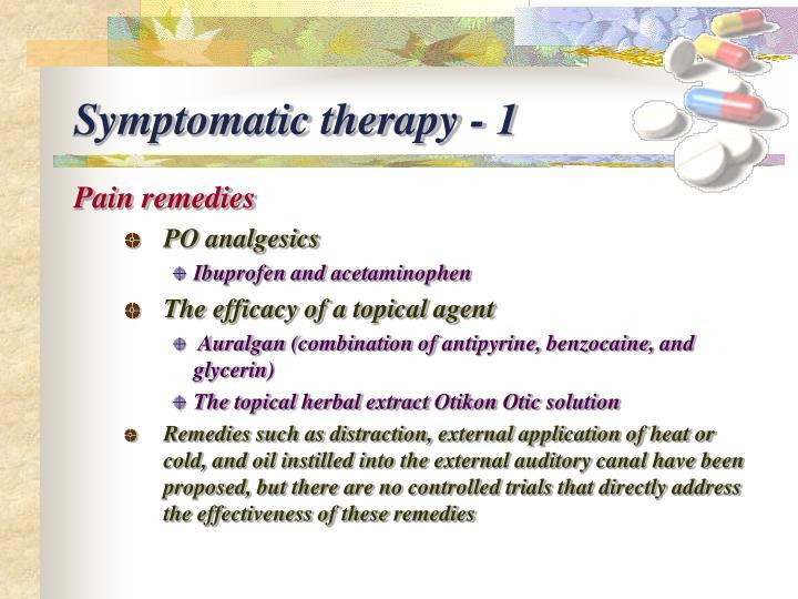 Symptomatic therapy - 1