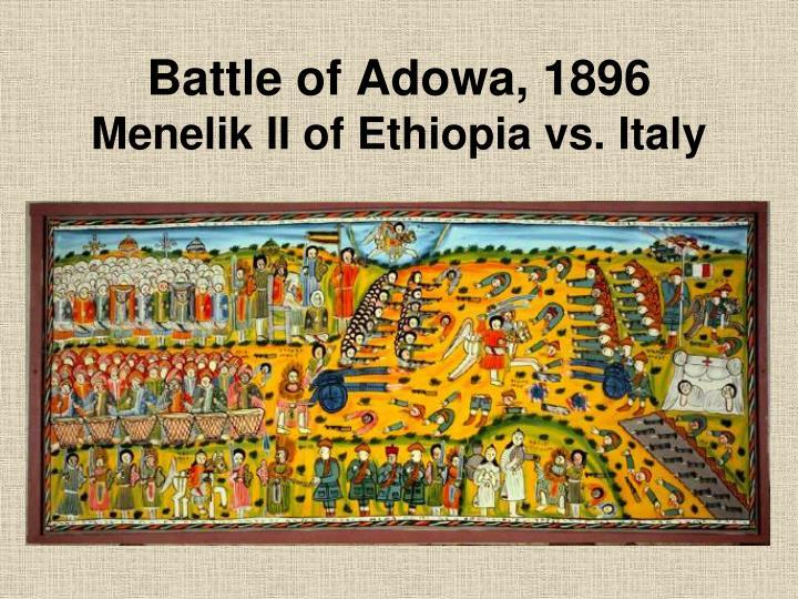 Battle of Adowa, 1896