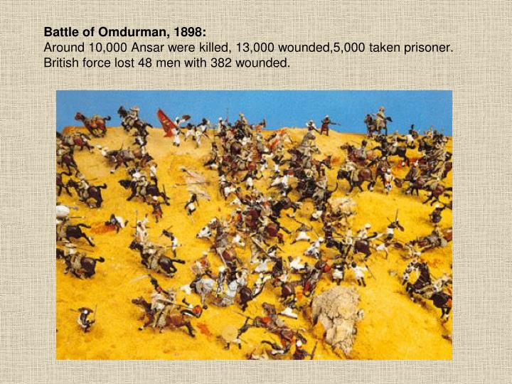 Battle of Omdurman, 1898: