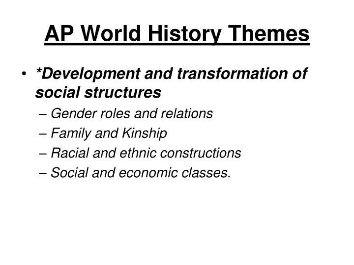 AP World History Themes