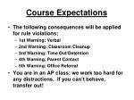 course expectations1