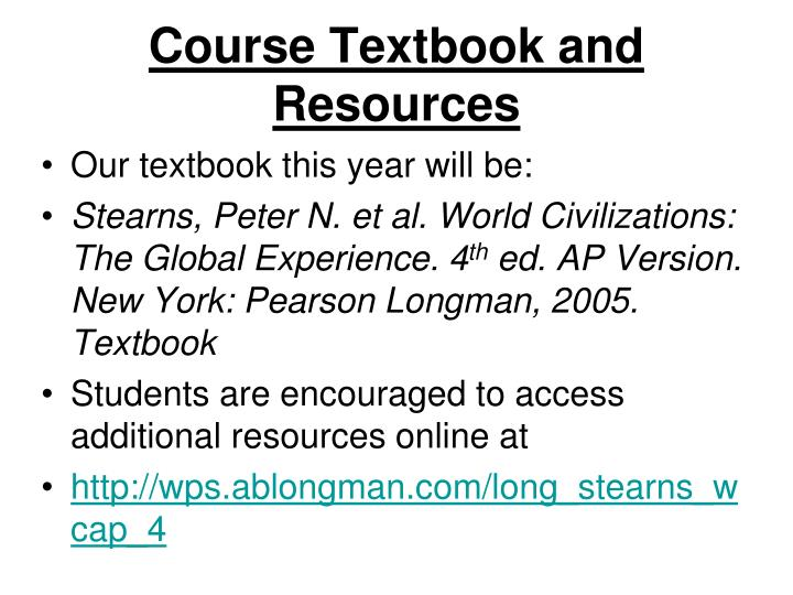 Course Textbook and Resources