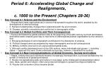 period 6 accelerating global change and realignments c 1900 to the present chapters 28 36