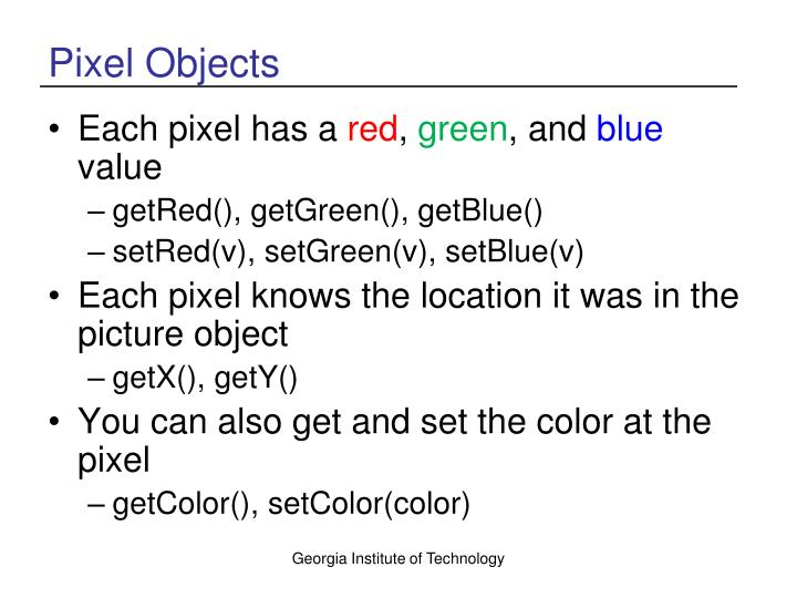 Pixel Objects