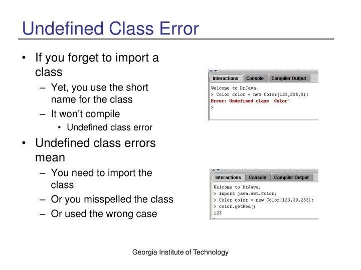 Undefined Class Error