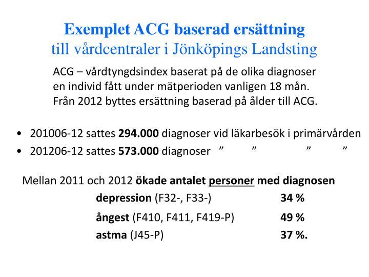 Exemplet ACG baserad ersättning