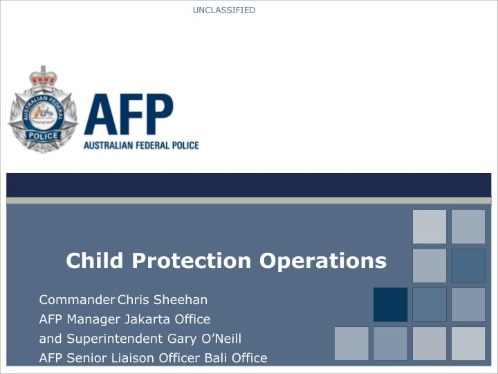 Child protection operations