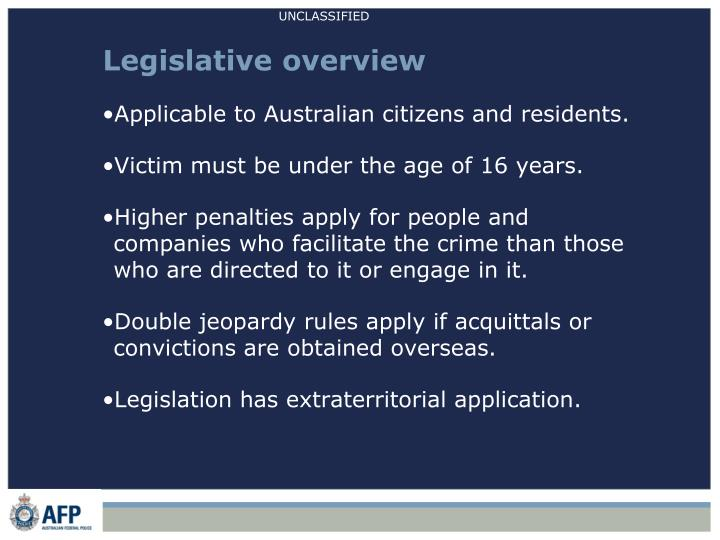 Legislative overview