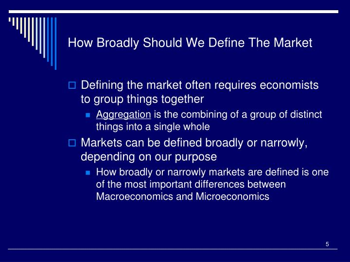 How Broadly Should We Define The Market