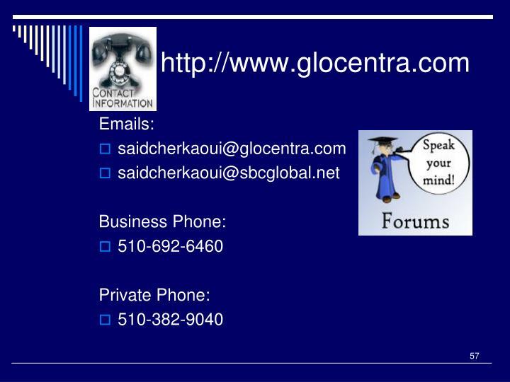 http://www.glocentra.com