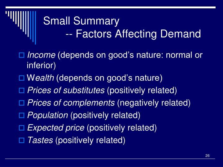 Small Summary