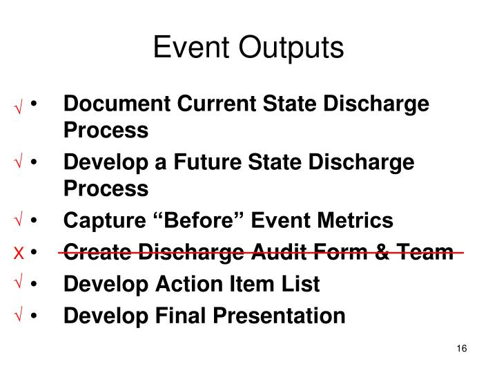 Event Outputs