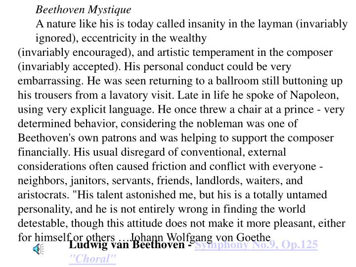 Beethoven Mystique