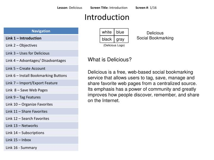 Lesson delicious screen title introduction screen 1 16 introduction