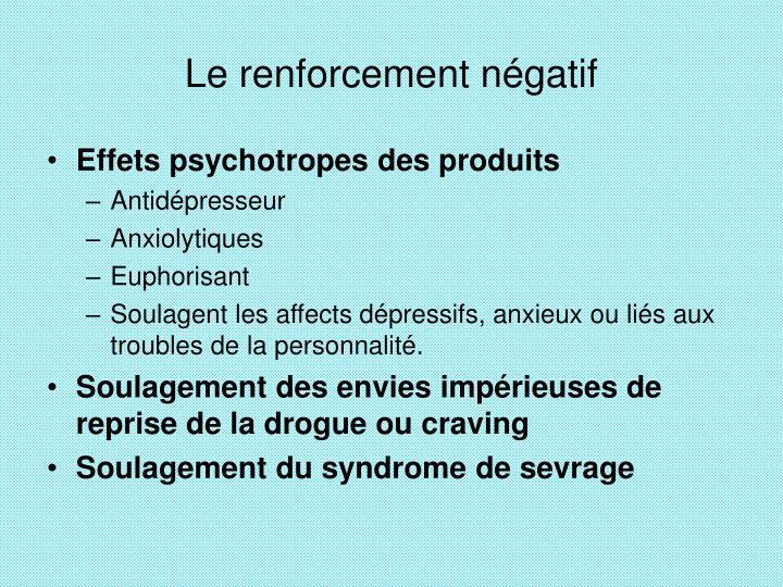 Le renforcement négatif