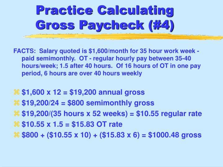 Practice Calculating