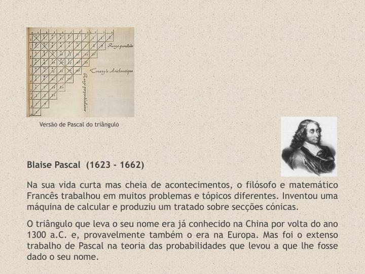 Versão de Pascal do triângulo