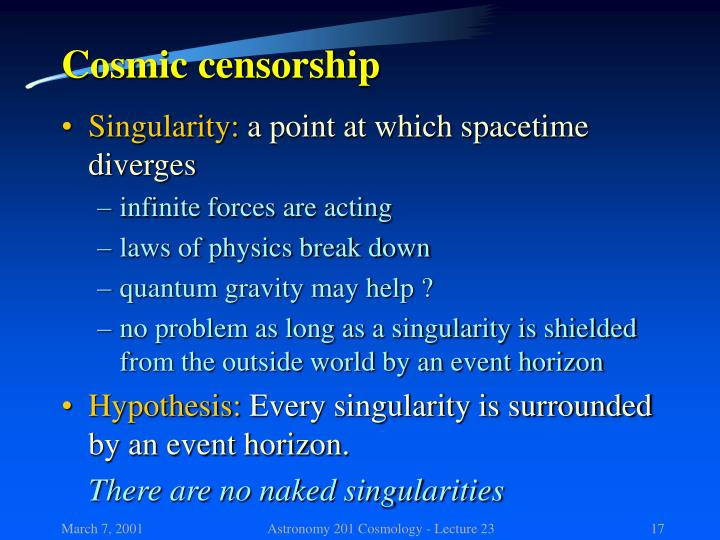 Cosmic censorship