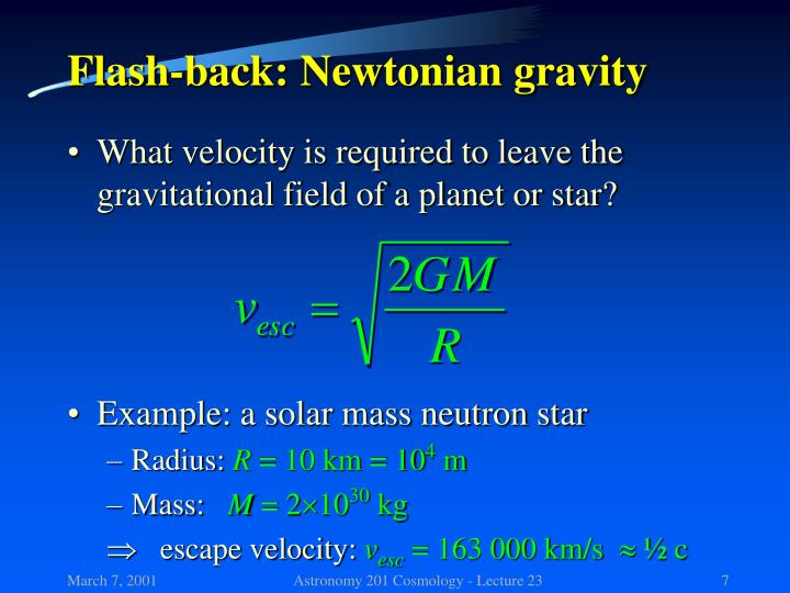 Flash-back: Newtonian gravity