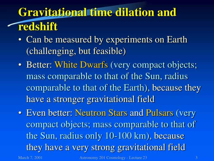 Gravitational time dilation and redshift