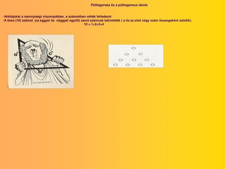 Püthagorasz és a püthagoreus iskola