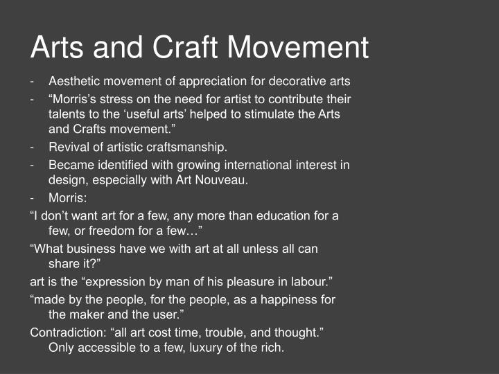 Arts and Craft Movement