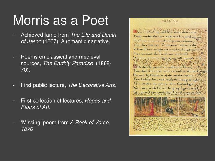 Morris as a Poet