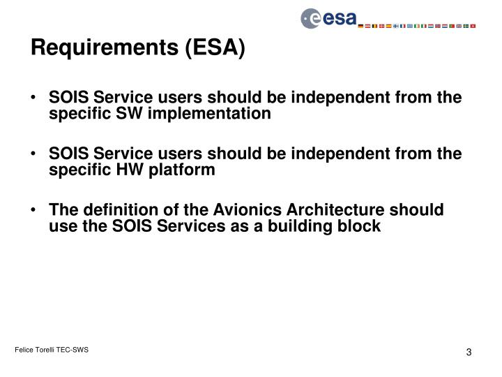 Requirements (ESA)