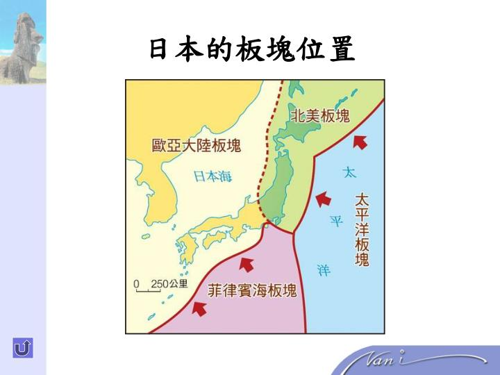 日本的板塊位置