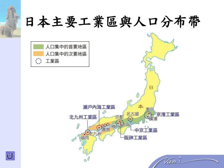 日本主要工業區與人口分布帶
