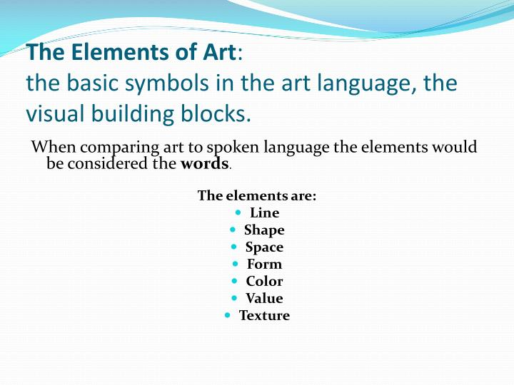 Basic Elements Of Visual Arts : College essays application basic art terms