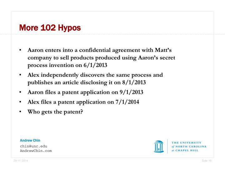More 102 Hypos