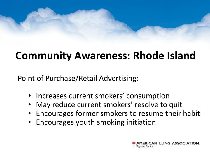 Community Awareness: Rhode Island