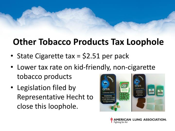 Other Tobacco Products Tax Loophole