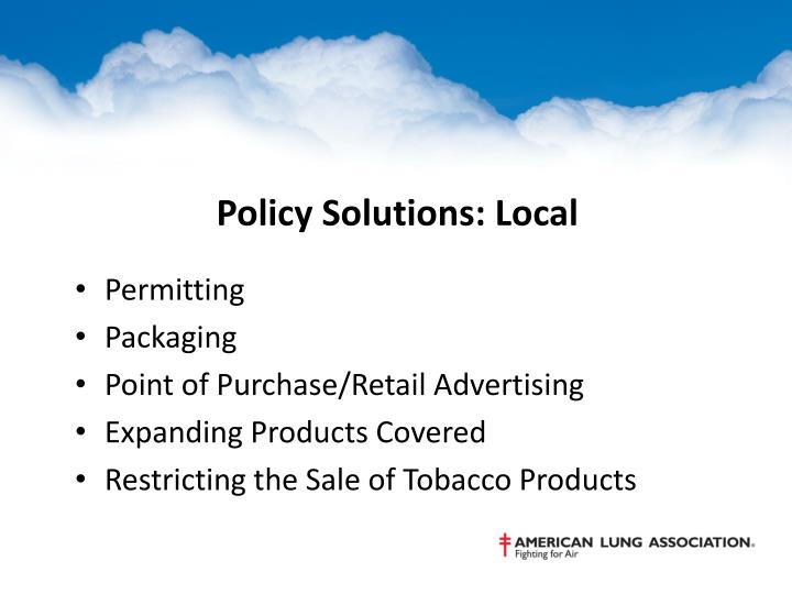 Policy Solutions: Local