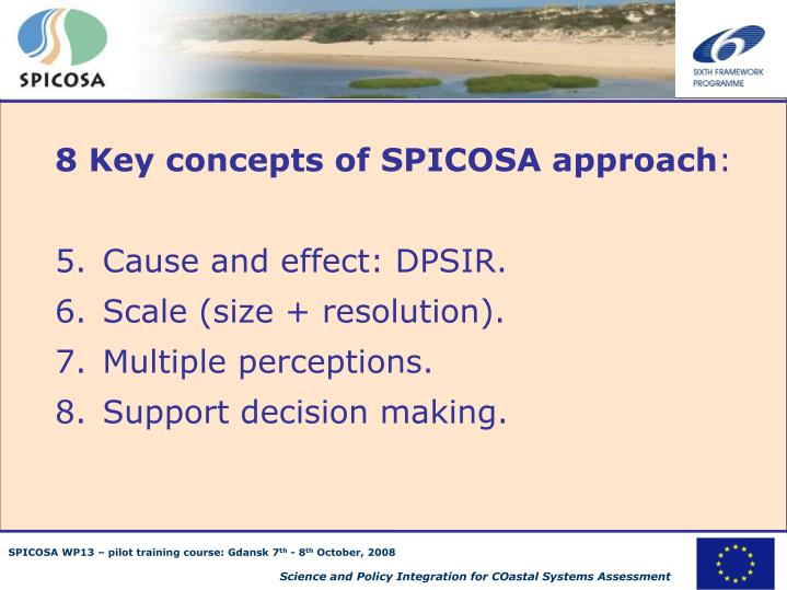 8 Key concepts of SPICOSA approach