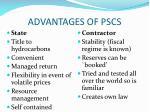 advantages of pscs