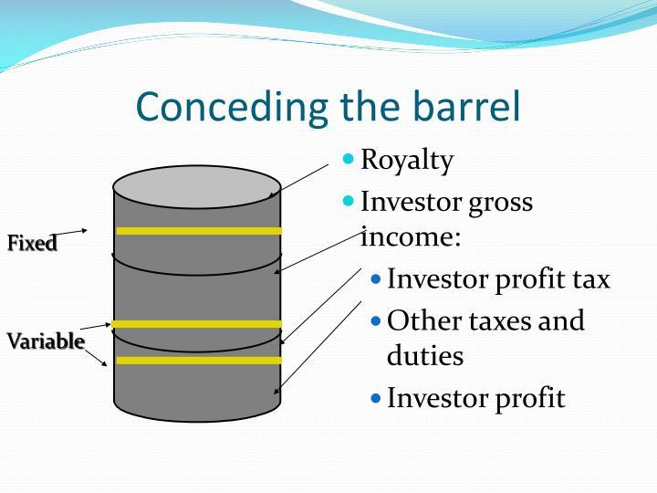 Conceding the barrel