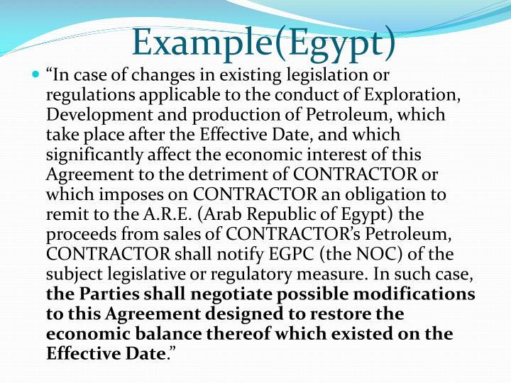 Example(Egypt)