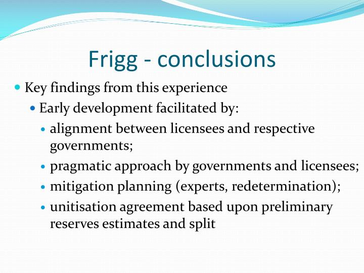 Frigg - conclusions