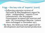 frigg the key role of experts cont