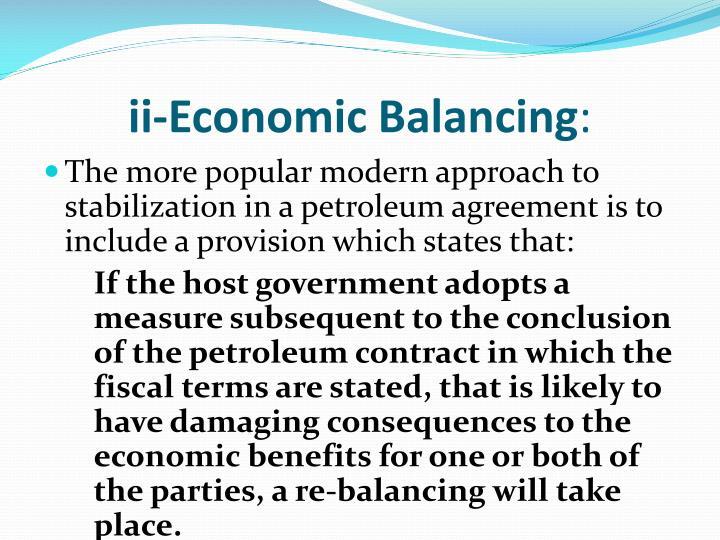 ii-Economic Balancing