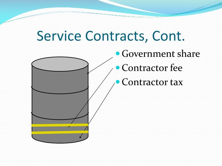 Service Contracts, Cont.