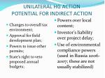 unilateral hg action potential for indirect action