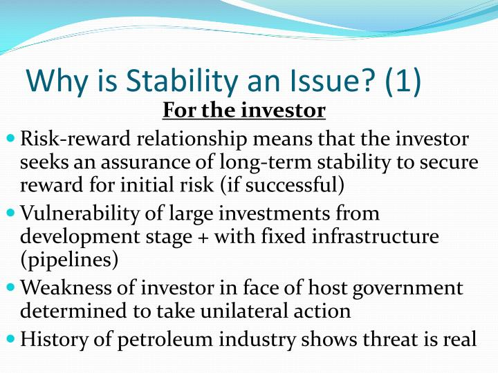 Why is Stability an Issue? (1)