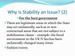 why is stability an issue 2