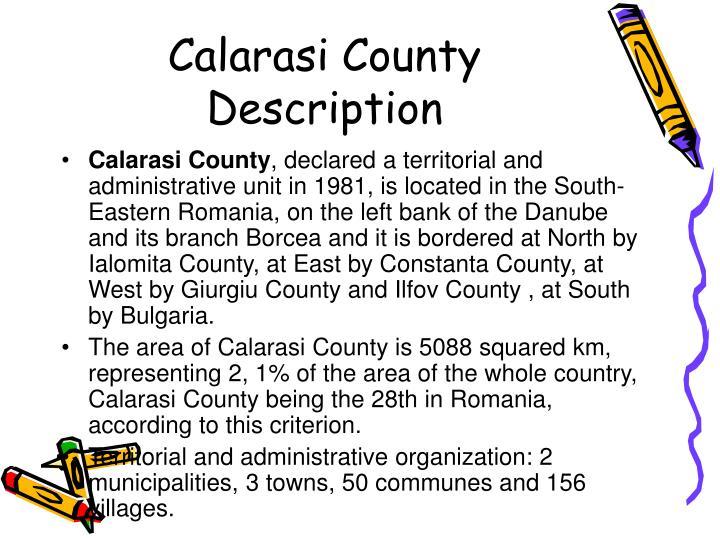 Calarasi County Description